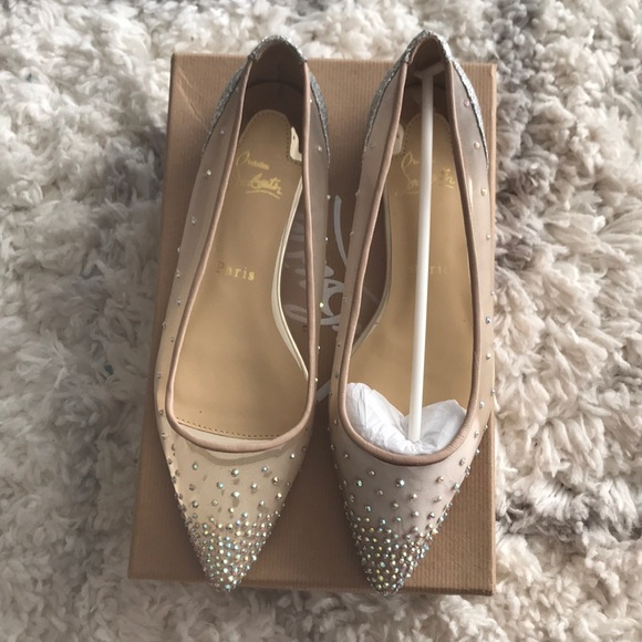 4677715c547 Christian Louboutin Follies Strass Flats NWT